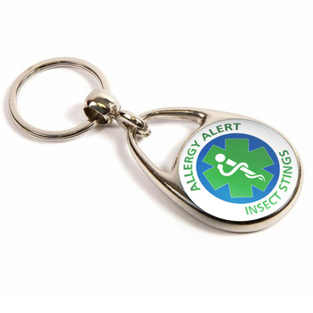 Insect Stings Allergy Alert Keyring