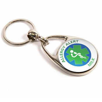 Milk Allergy Alert Keyring