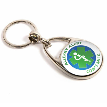 Cow's Milk Allergy Alert Keyring