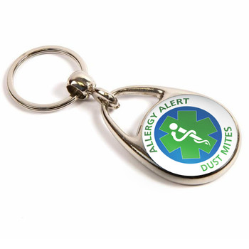 Dust Mites Allergy Alert Keyring