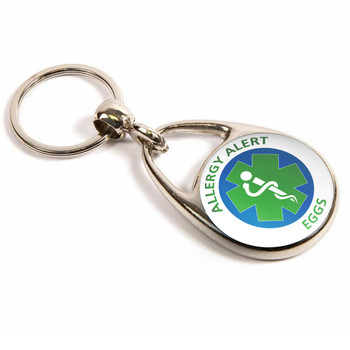 Eggs Allergy Alert Keyring
