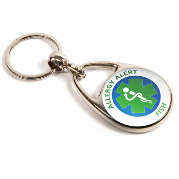 Fish Allergy Alert Keyring