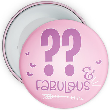 Fabulous at Birthday Badge - Age 5 - 100