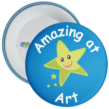 Amazing At Art (Blue) Badge