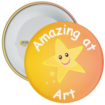 Amazing At Art (Yellow/Orange) Badge