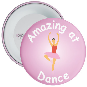 Amazing At Dance Badge Pink