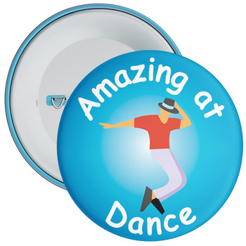 Amazing At Dance Badge Blue 2