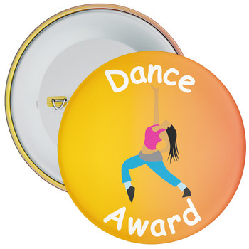 Amazing At Dance Badge Orange