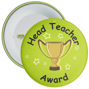 Green Head Teacher Award Badge
