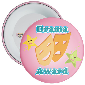 Pale Pink Drama Award Badge