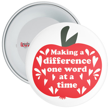 Making A Difference One Word At A Time Badge