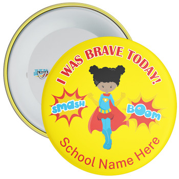 I Was Brave Today Girl Hero Badge 2