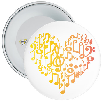 Music Notes In Heart Badge