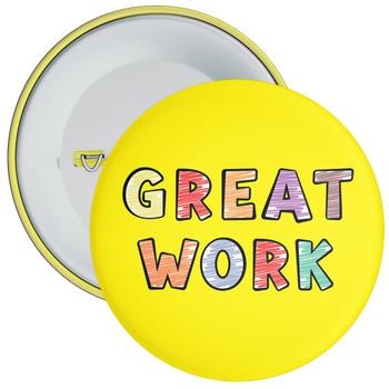 Yellow Great Work Badge