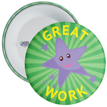 Green Spiral Pattern Great Work Badge 2