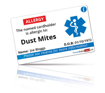 Dust Mites Allergy I.C.E. Card