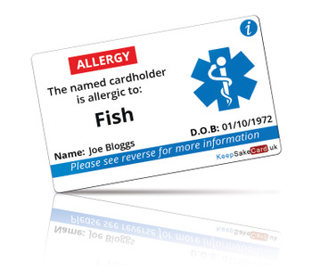 Fish Allergy I.C.E. Card