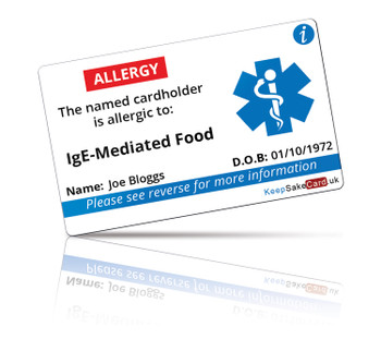 IgE-Mediated Food Allergy I.C.E. Card