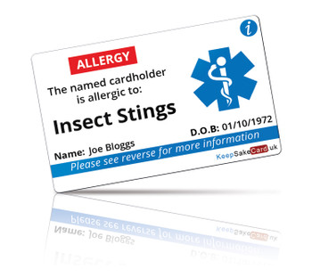 Insect Stings Allergy I.C.E. Card