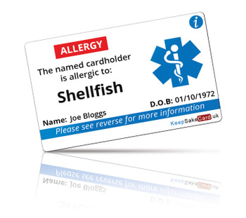 Shellfish Allergy I.C.E. Card