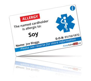 Soy Allergy I.C.E. Card