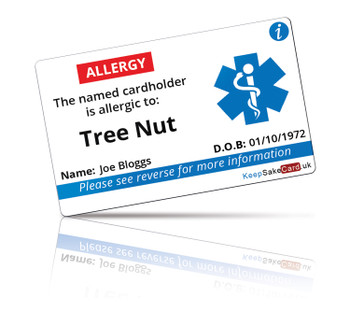 Tree Nut Allergy I.C.E. Card