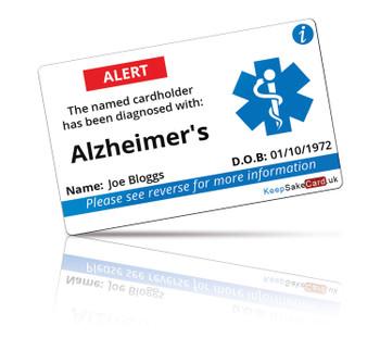 Alzheimer's I.C.E. Card