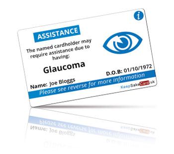 Glaucoma I.C.E. Card