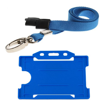 Blue Lanyard with Cardholder