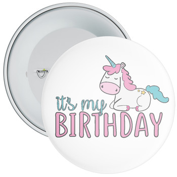 It's My Birthday Unicorn Badge