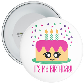 It's My Birthday with Cake Badge