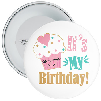 It's My Birthday with Cupcake Badge