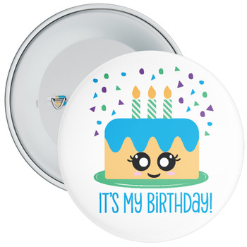 It's My Birthday Blue Cake Badge