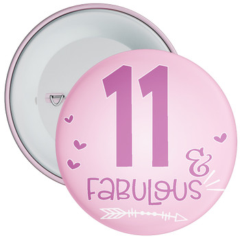 11 & Fabulous Birthday Badge
