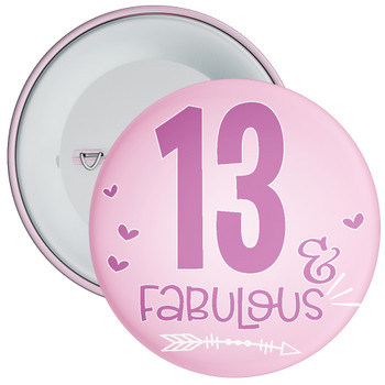 13 & Fabulous Birthday Badge