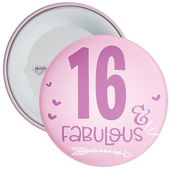 16 & Fabulous Birthday Badge