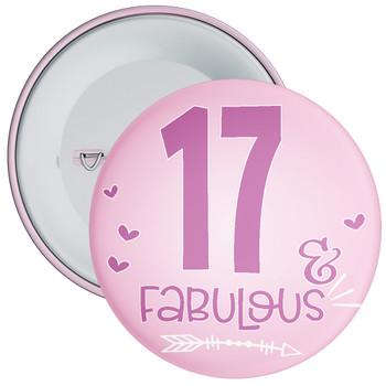 17 & Fabulous Birthday Badge