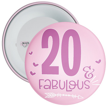 20 & Fabulous Birthday Badge