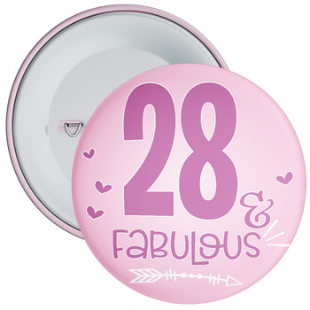 28 & Fabulous Birthday Badge