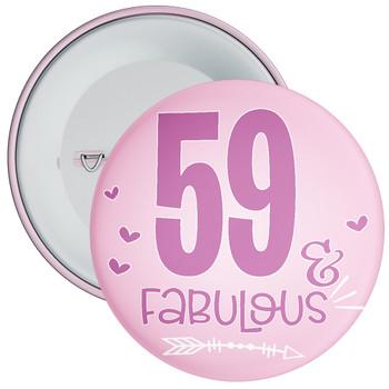 59 & Fabulous Birthday Badge