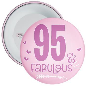 95 & Fabulous Birthday Badge