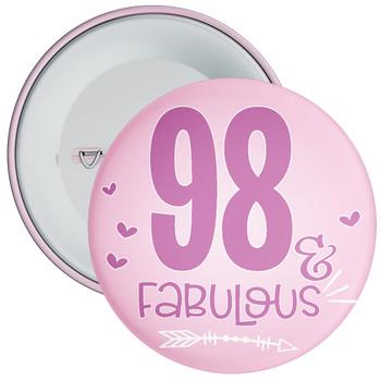 98 & Fabulous Birthday Badge
