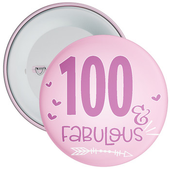 100 & Fabulous Birthday Badge