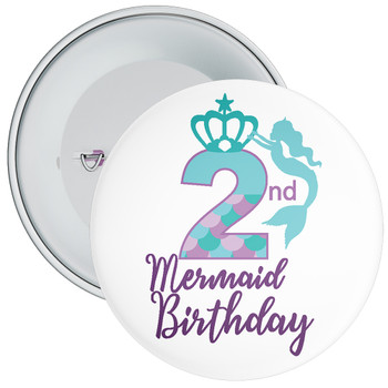 2nd Mermaid Birthday Birthday Badge