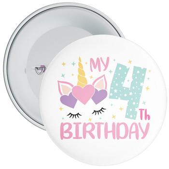 My 4th Birthday Badge