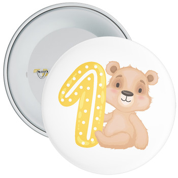 Bear 1st Birthday Badge