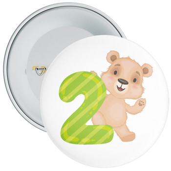 Bear 2nd Birthday Badge