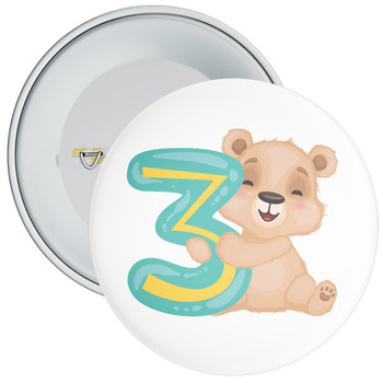 Bear 3rd Birthday Badge