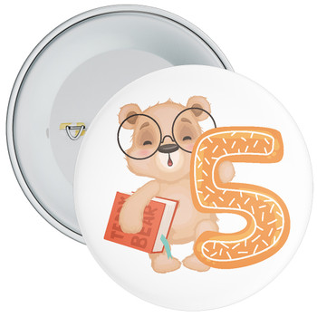 Bear 5th Birthday Badge