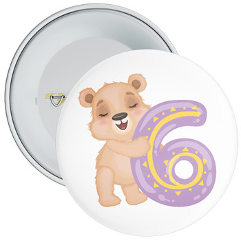 Bear 6th Birthday Badge